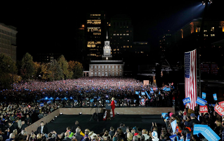 U.S. Democratic presidential nominee Hillary Clinton