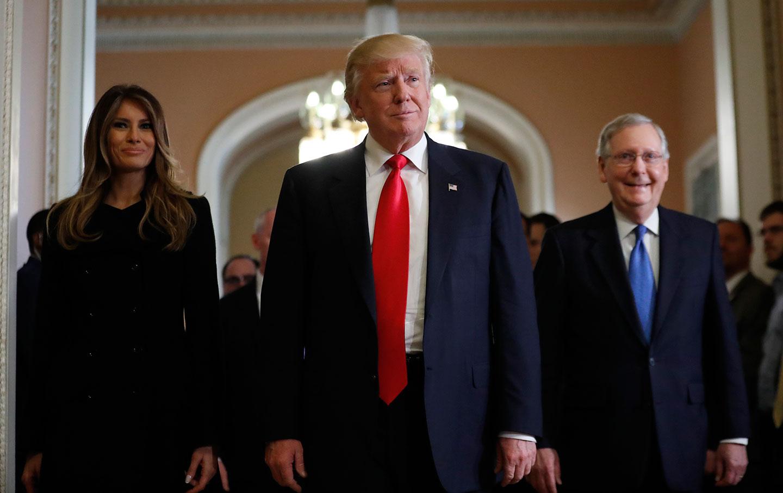 Donald Trump, Melania Trump, Mitch McConnell