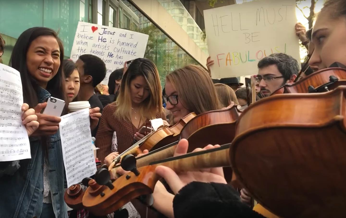 Julliard Students Protest
