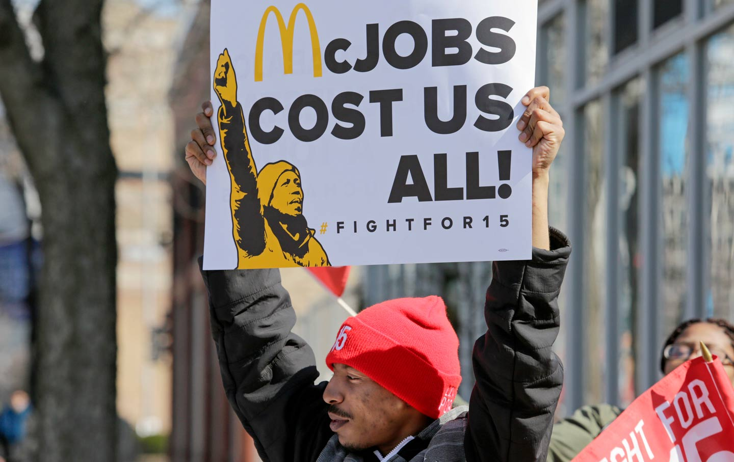 McDonald's Minimum Wage Protest