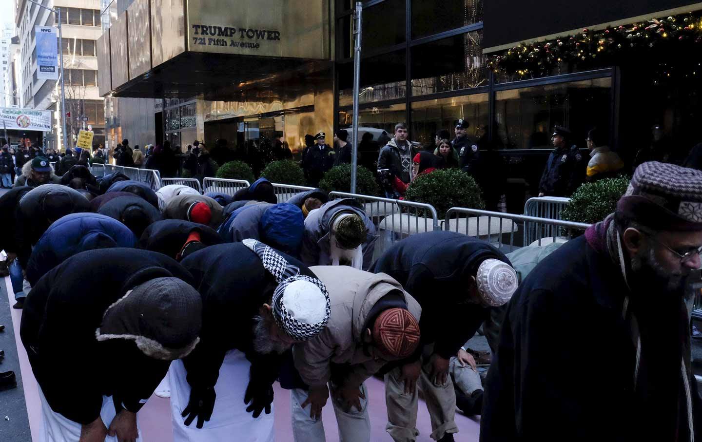 Muslim Prayer Trump Protest