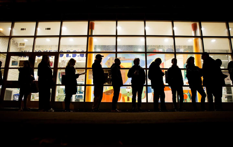 New York voters waiting