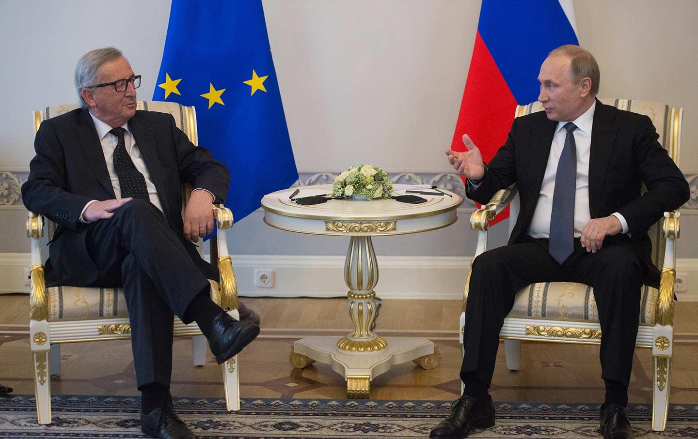 Vladimir Putin and Jean-Claude Juncker