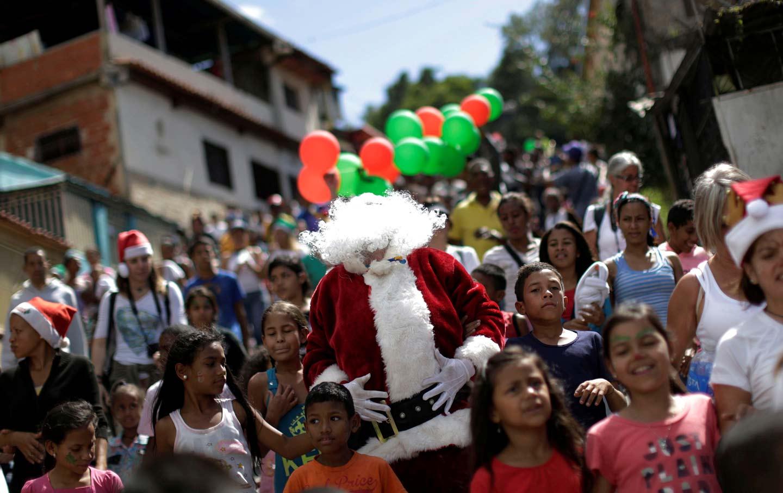Santa in Caracas
