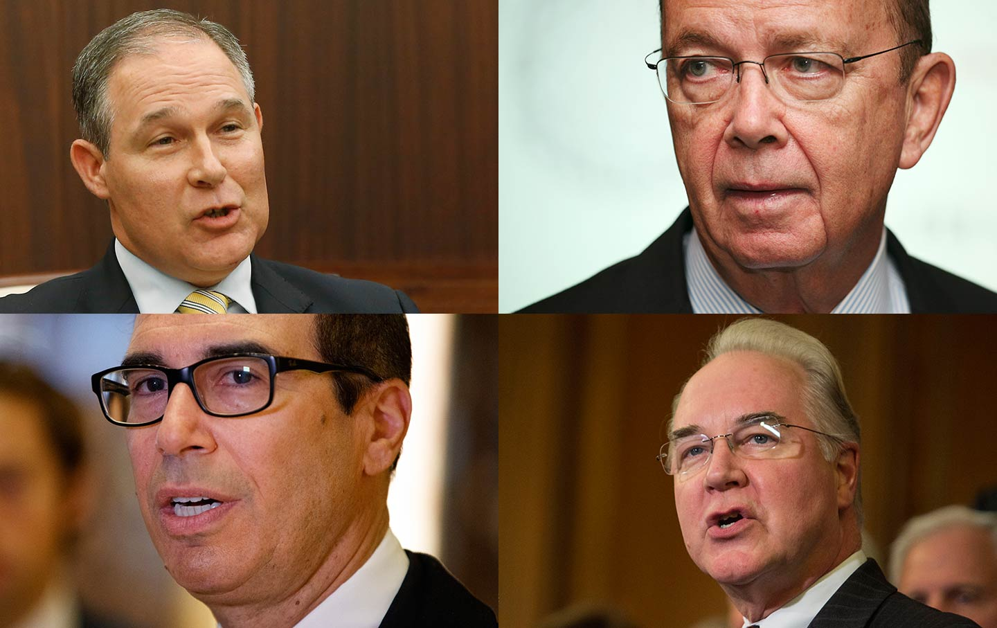 Pruitt, Ross, Price, Mnuchin