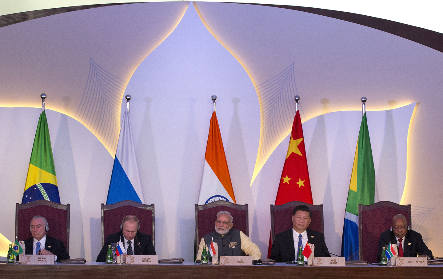 BRICS leaders at the summit