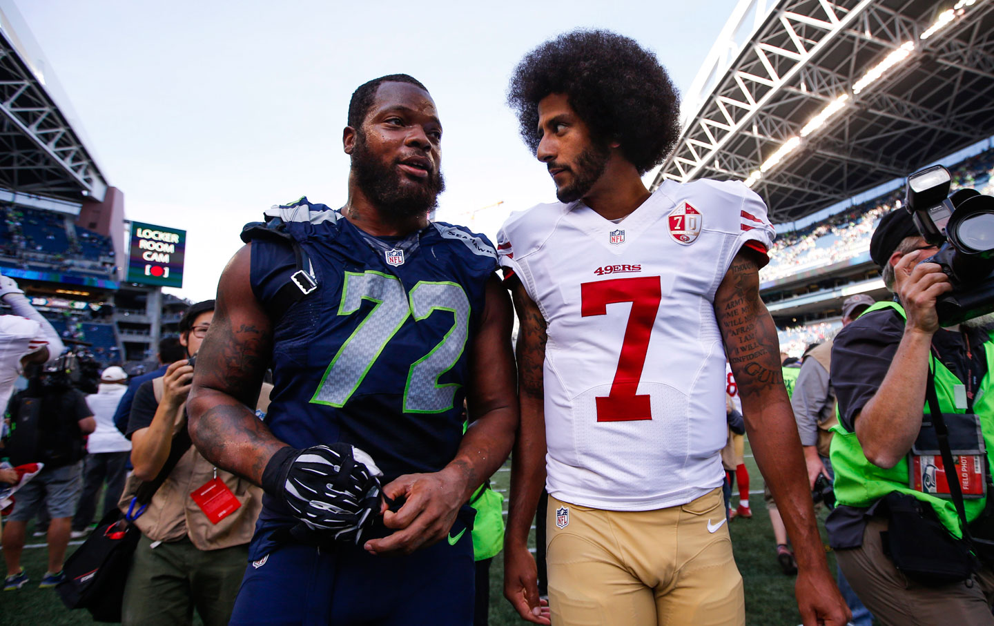 Michael Bennett and Colin Kaepernick