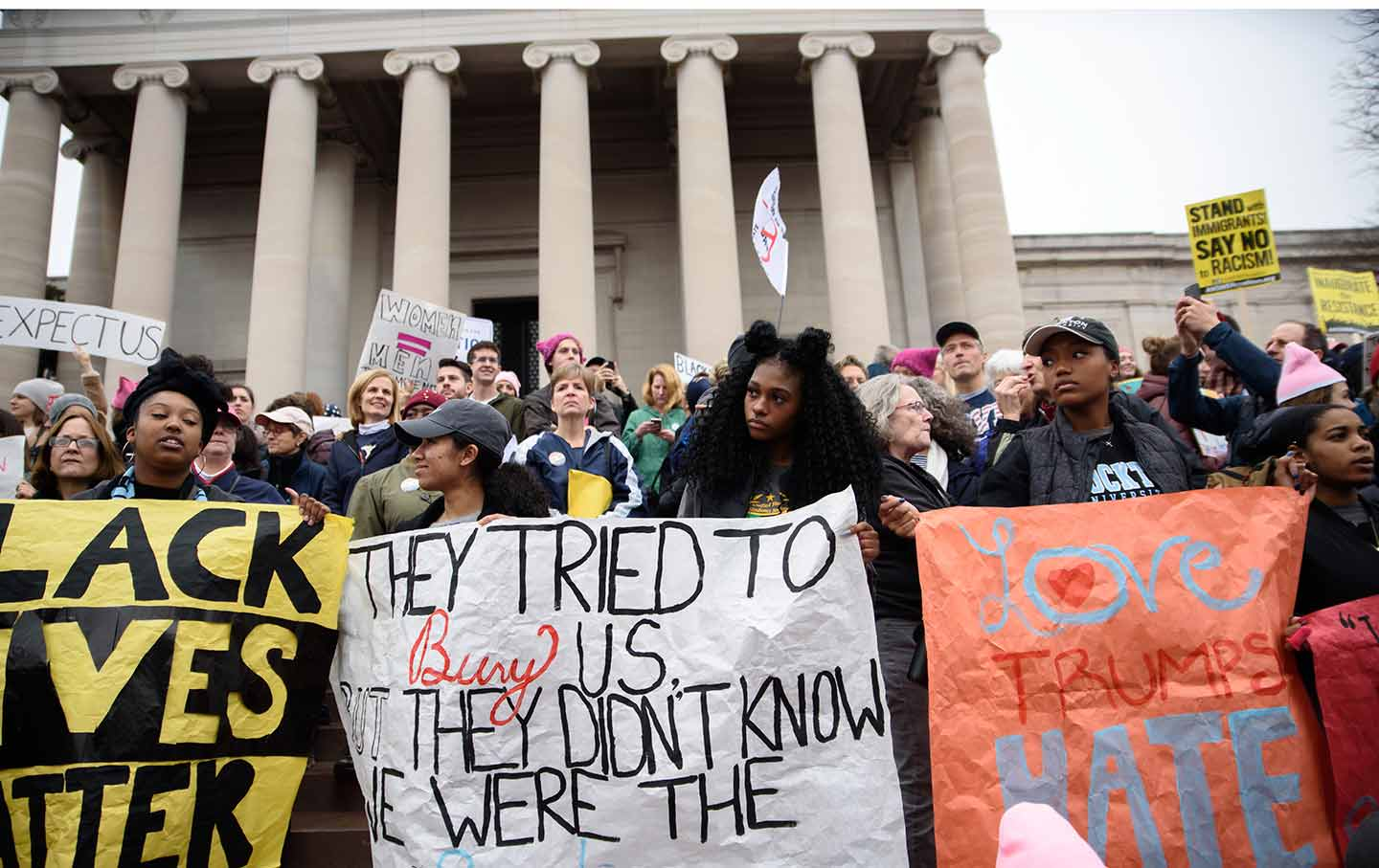 Protesters at the Women's March in Washington, DC, on January 21, 2017.  (Sipa via AP Images)