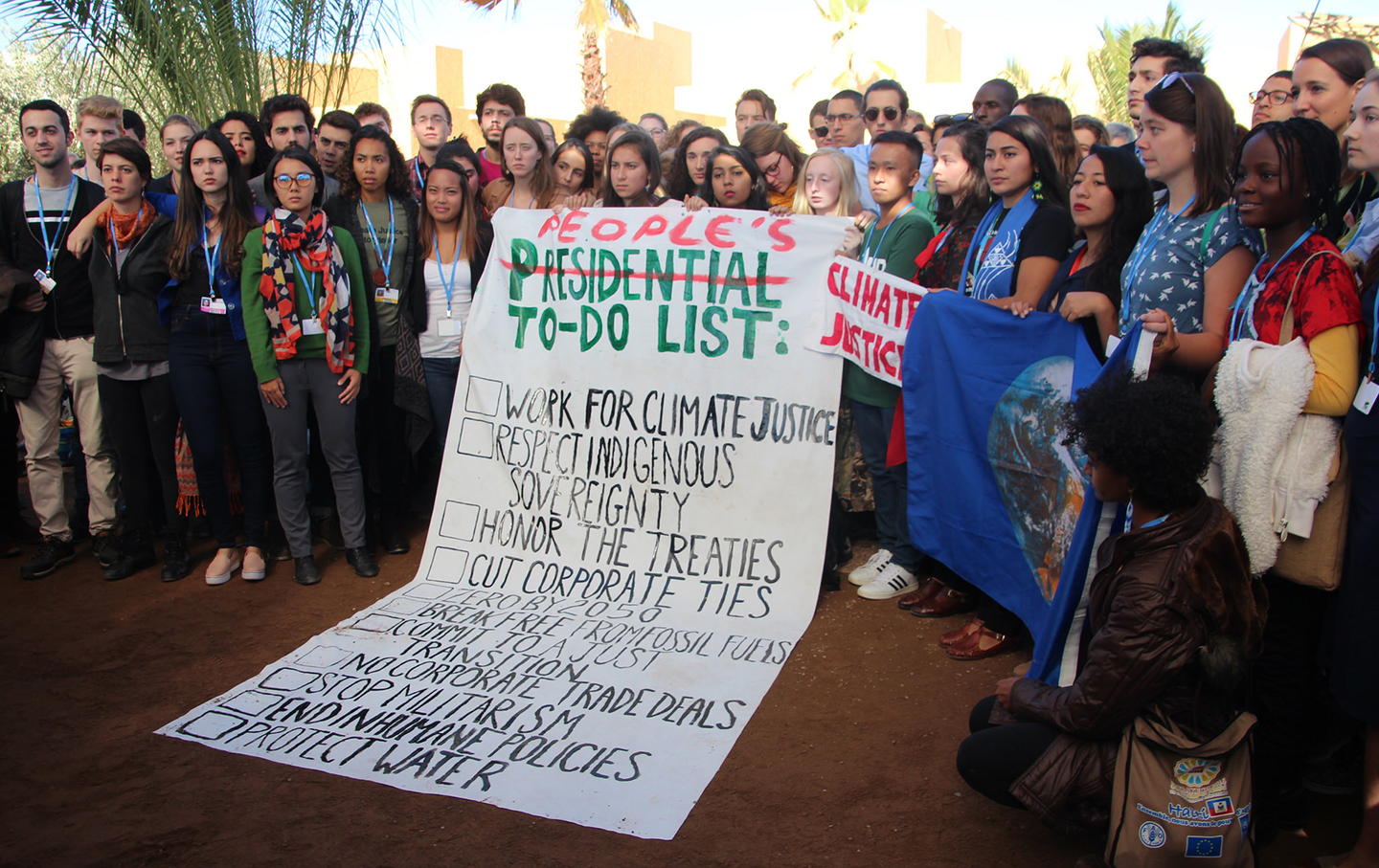 Youth in the UN Climate Change talks in Marrakech respond to the election of Donald Trump as US President.