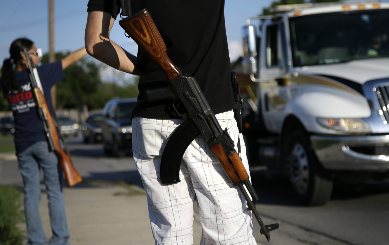 Gun Rights Demonstration in Texas