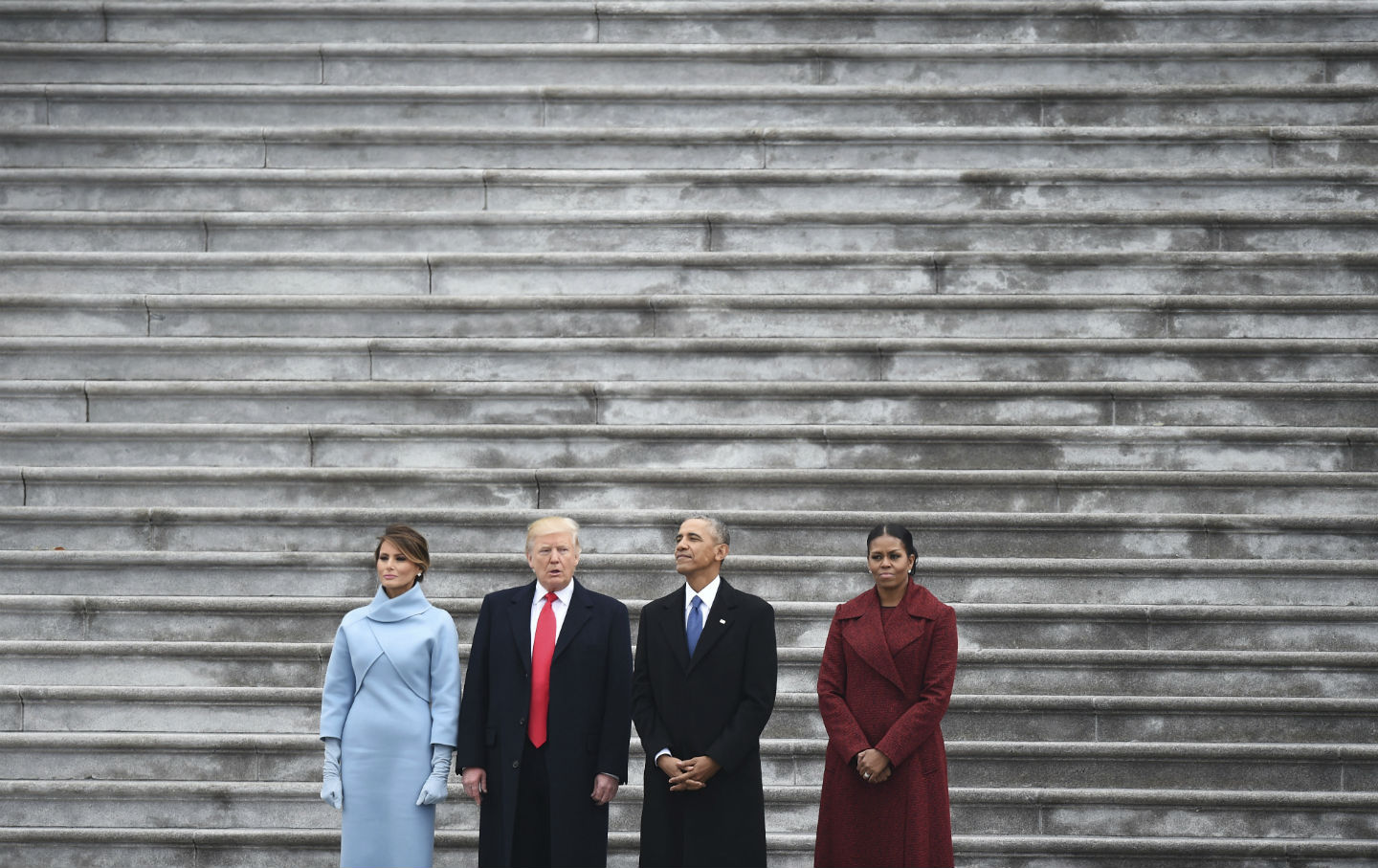 Obamas and Trumps at Inauguration