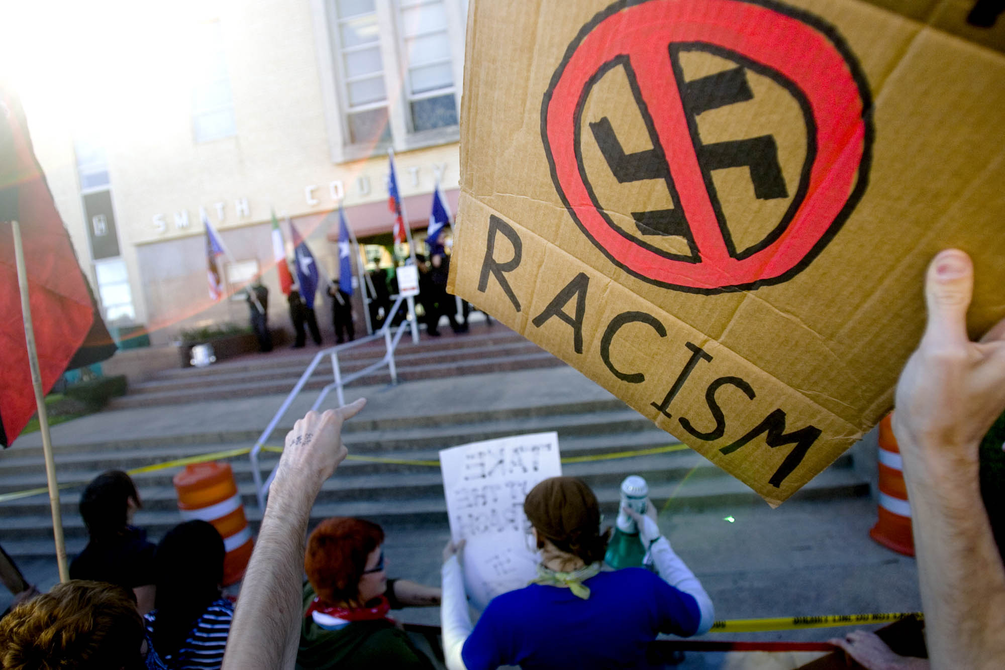 Anti-Racist Action Protests neo-Nazis in Texas
