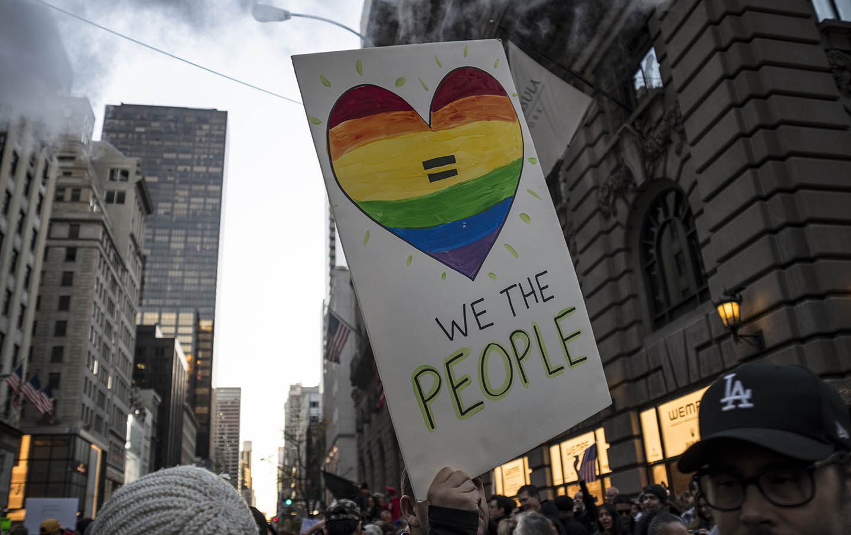 New York Anti-Trump Protestors