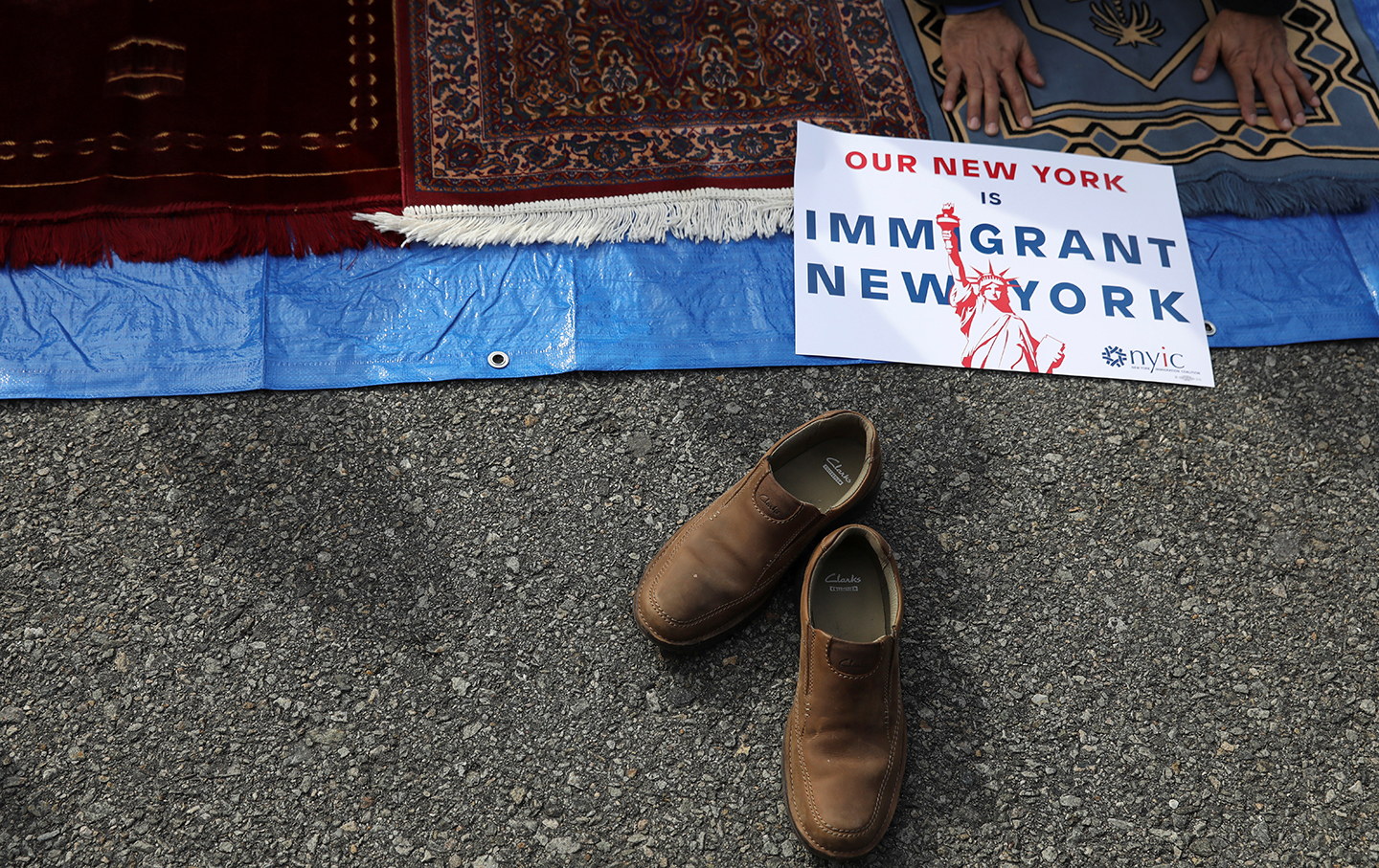 Immigrant New York sign at JFK