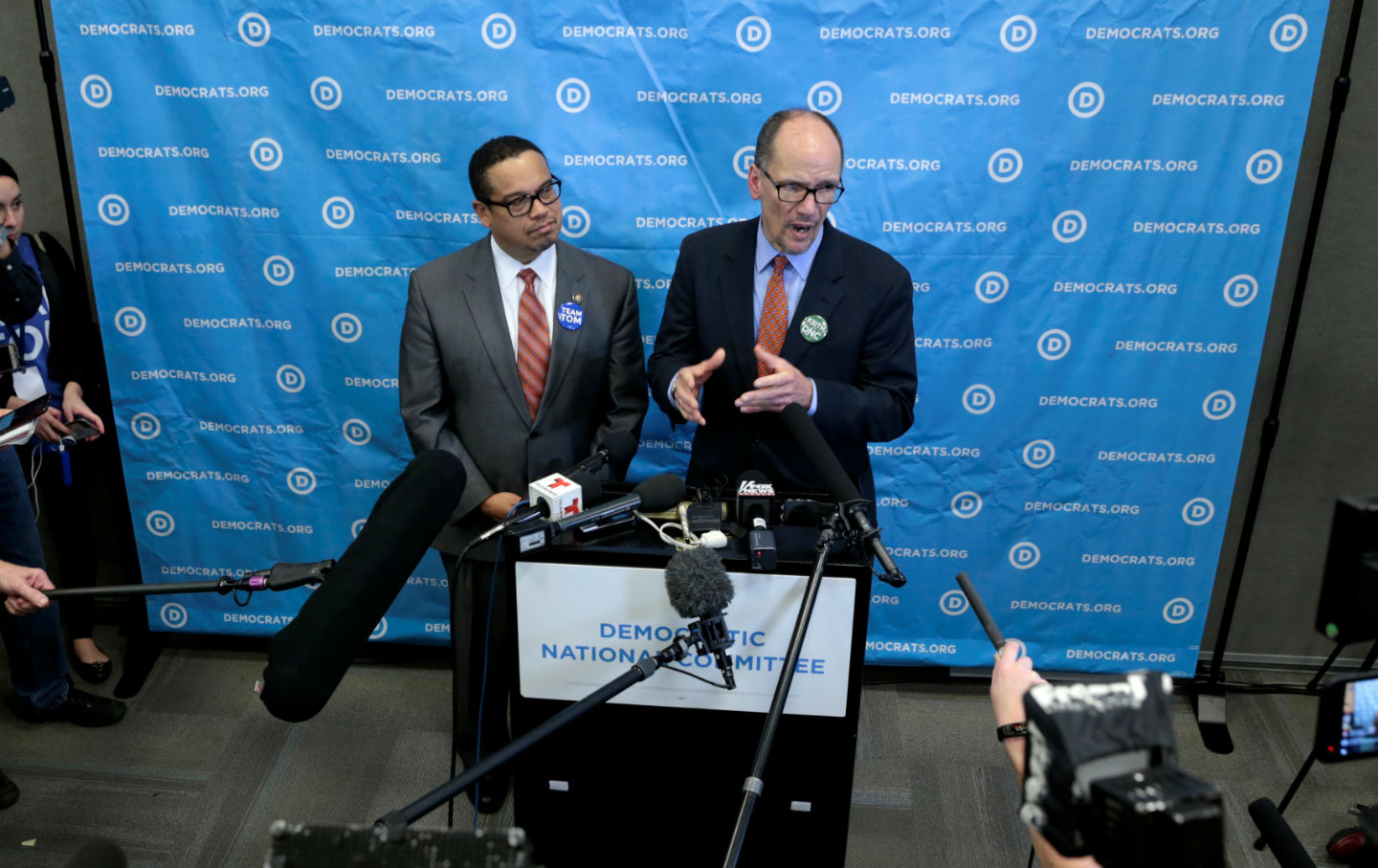 Image result for tom perez keith ellison