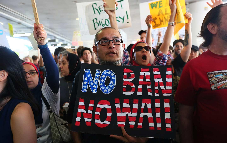 Trump Protest LAX