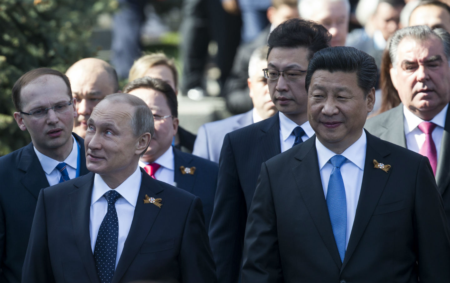 Putin and Xi at the Red Square
