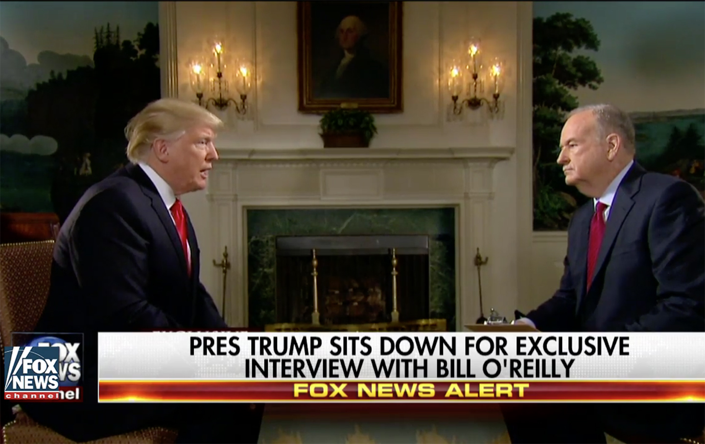 Pre-Superbowl Trump interview with O'Reilly
