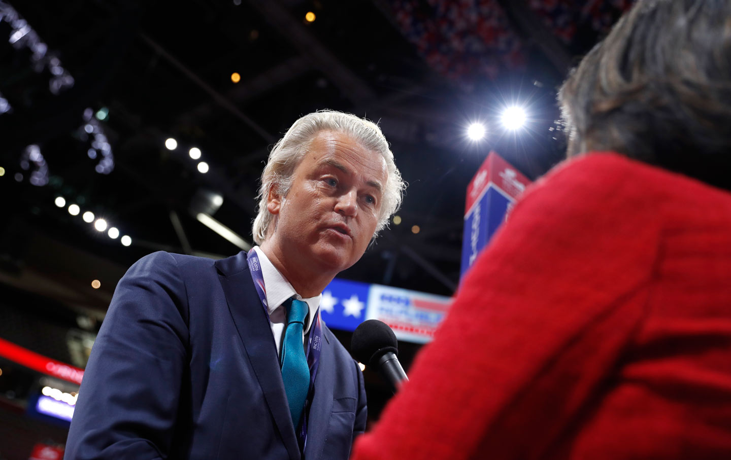Dutch lawmaker Geert Wilders in Cleveland