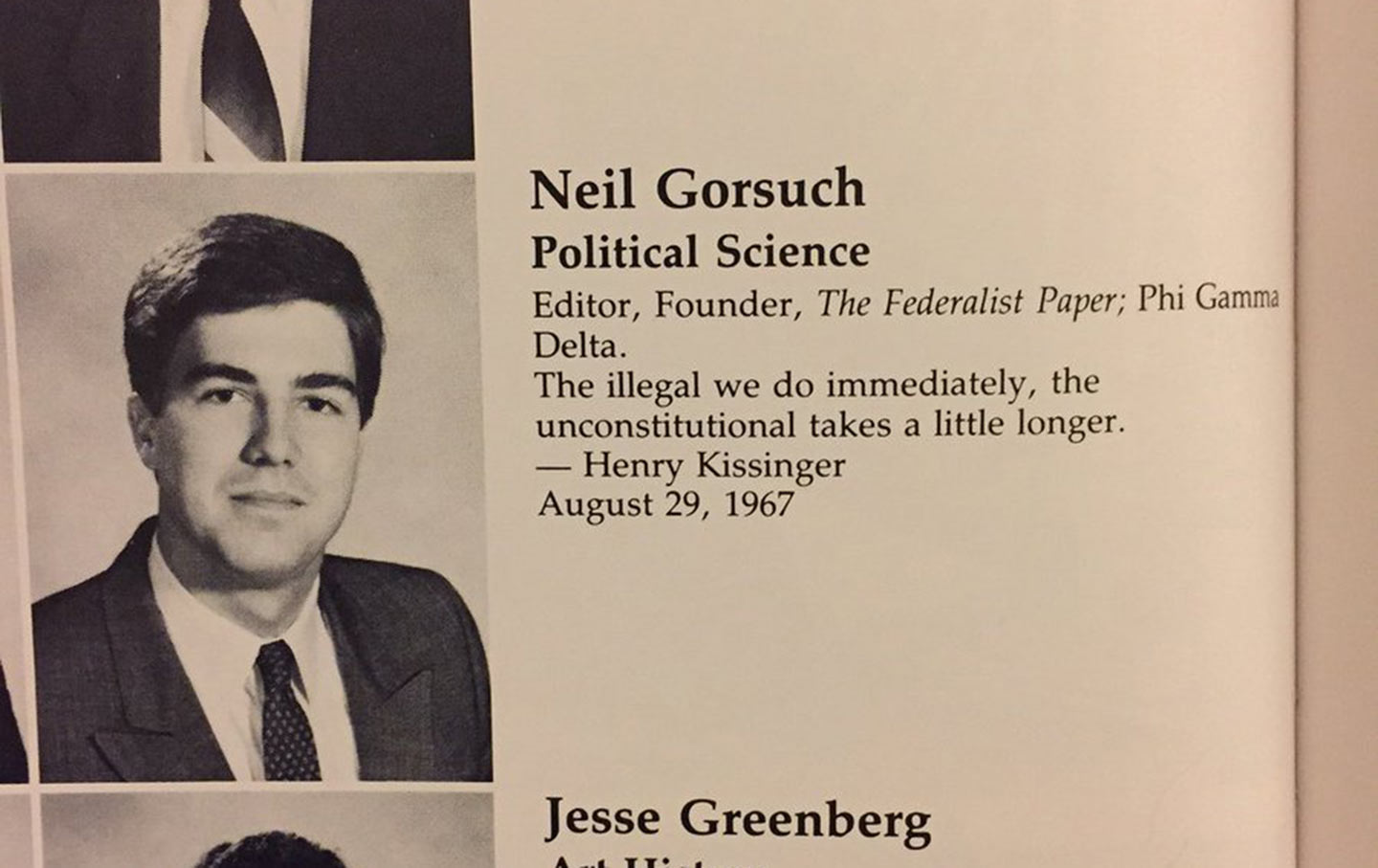 About That Kissinger Quote Neil Gorsuch Likes The Nation
