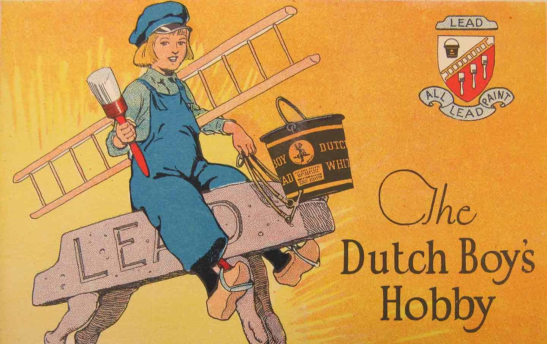 Dutch Boy lead paint advertisement, c. 1920s.