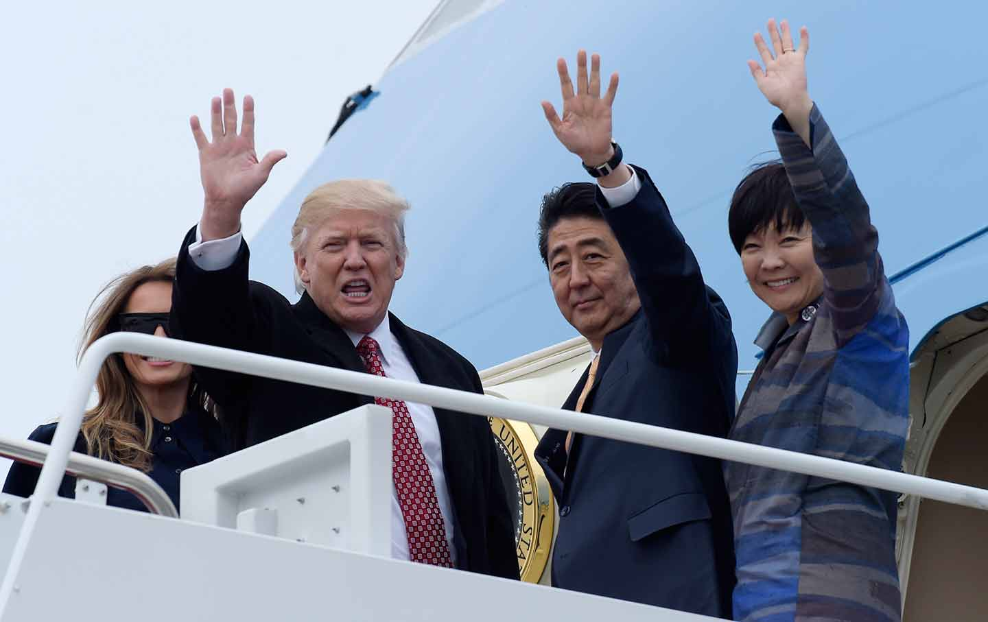 Trump and Shinzo Abe