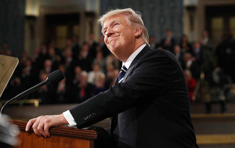 Trump Arrives SOTU