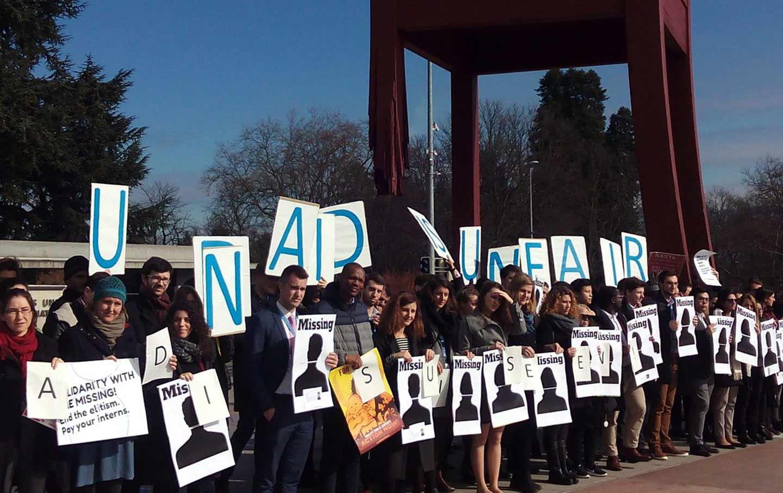 UN interns rally