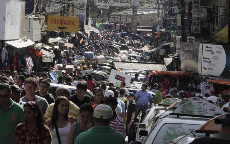 A Crowded street in Ciudad del Este