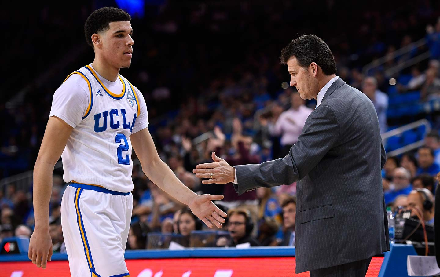 Lonzo Ball and Steve Alford