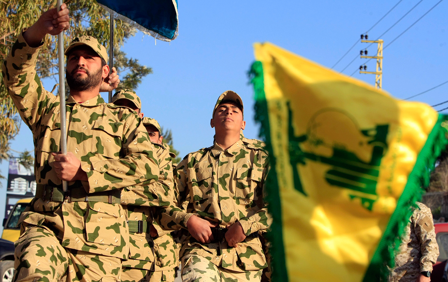 Hezbollah demonstration in Lebanon
