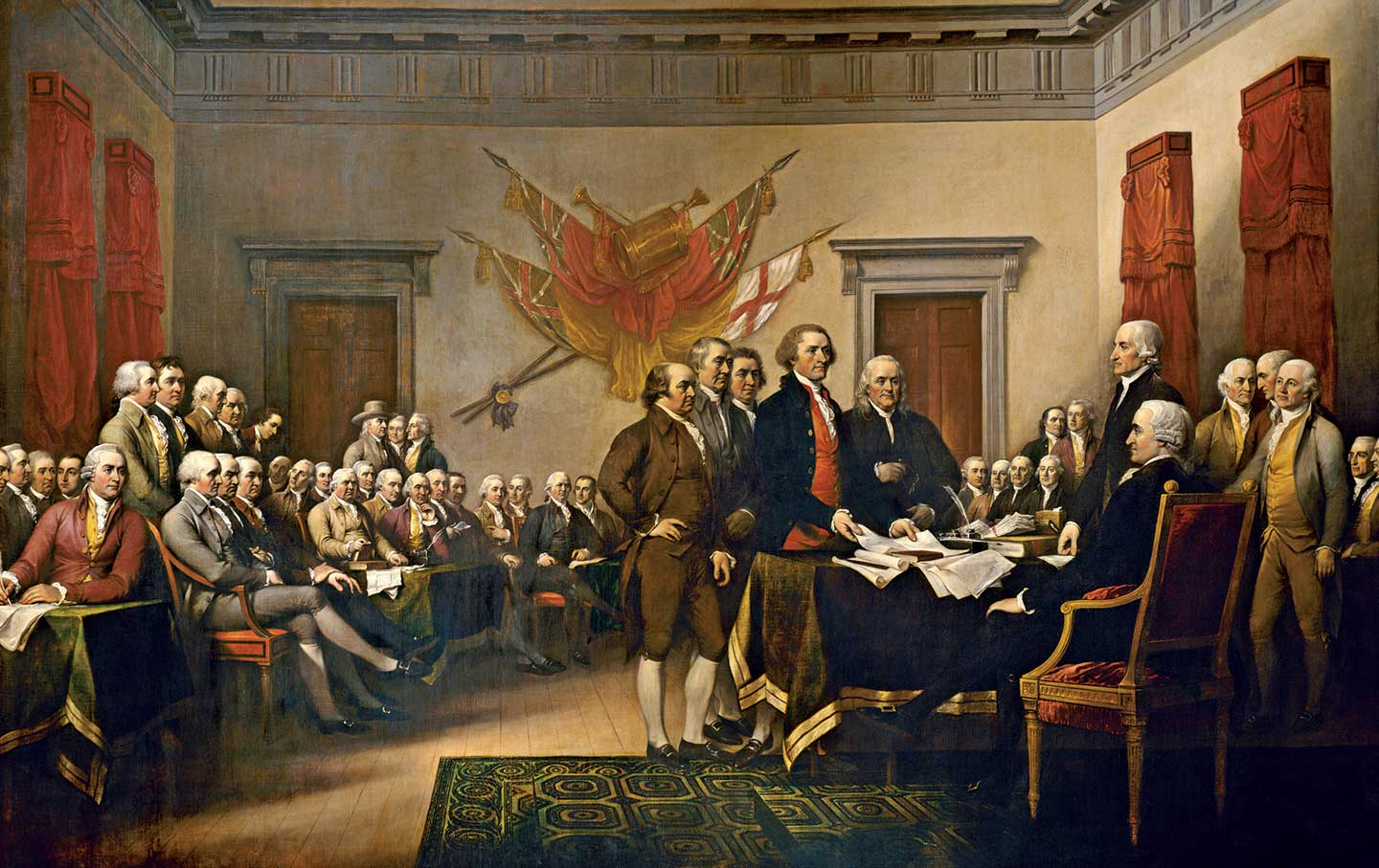 declaration of independence painting by John Trumbull