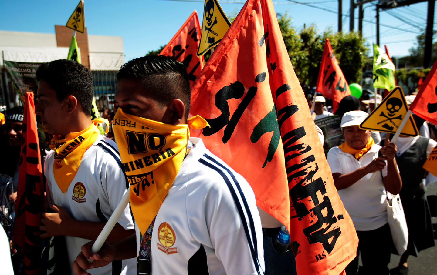 Mining protests in El Salvador