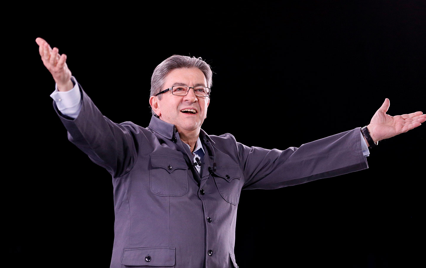 French Leftist Presidential Candidate Melenchon