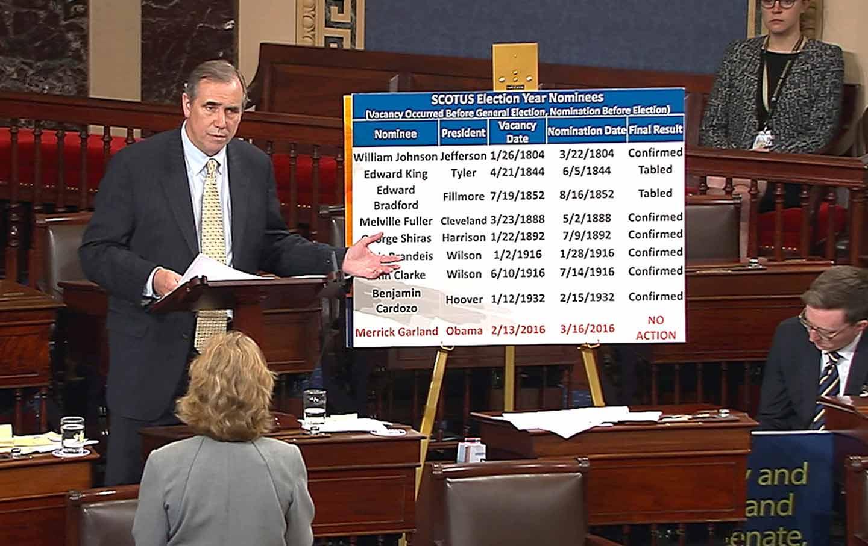 Senator Jeff Merkley filibusters