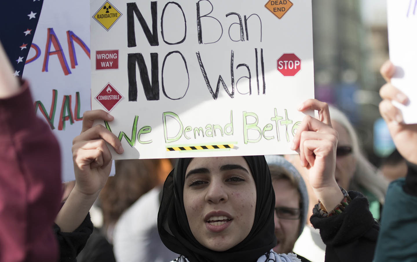 CA: Rally Against Trump's Muslim Travel Ban at San Francisco Cit