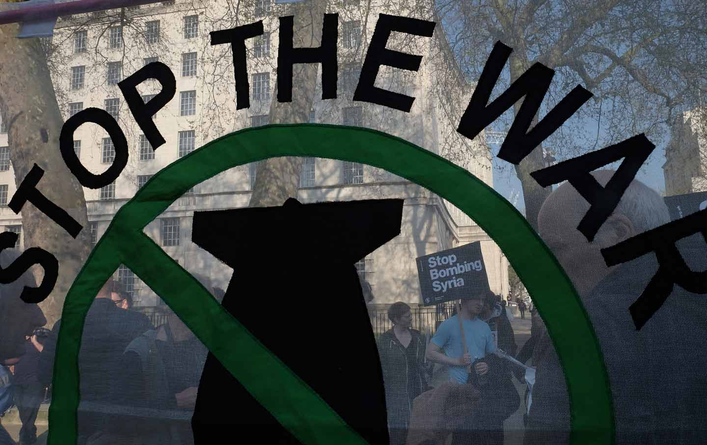 London protest against militarism in Syria