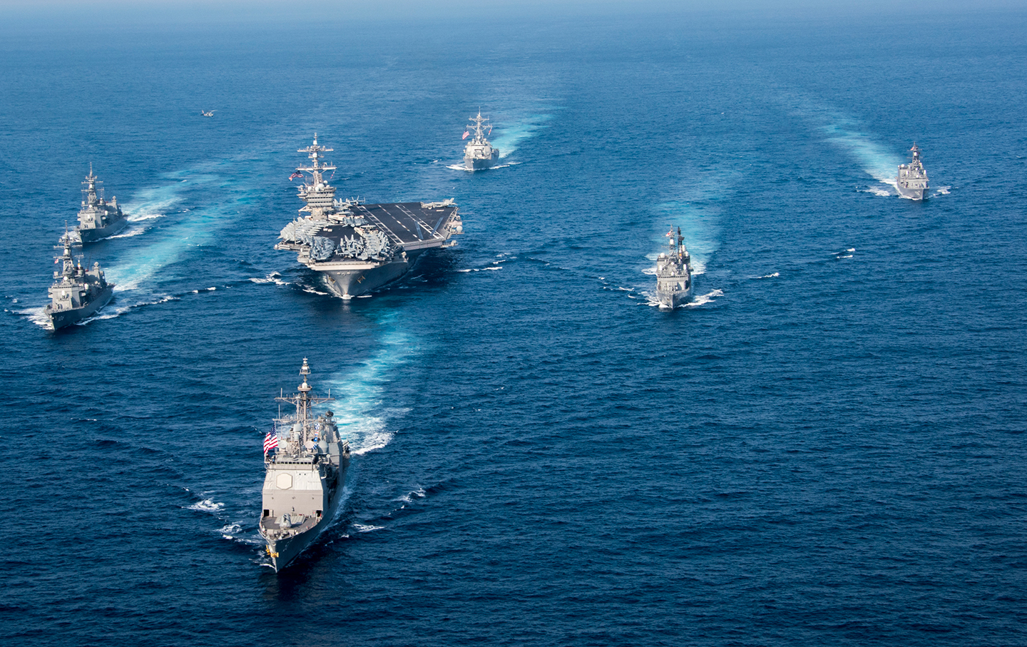 US Warships near Korean Peninsula