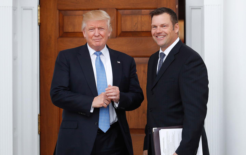 Donald Trump and Kris Kobach