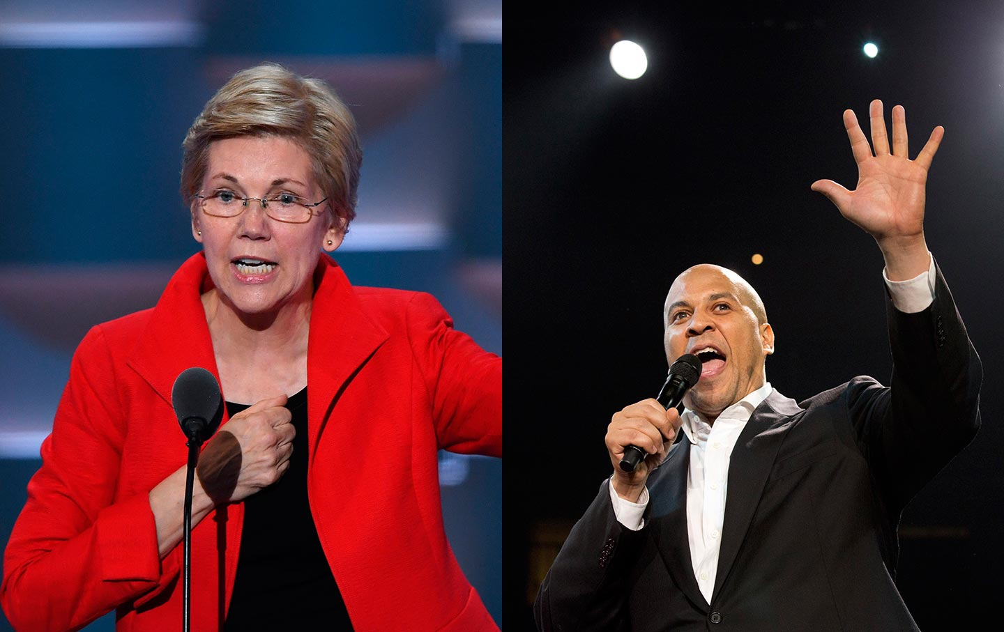 Cory Booker and Elizabeth Warren