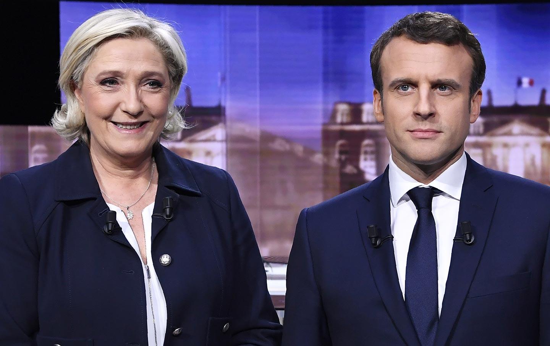 Le Pen and Macron