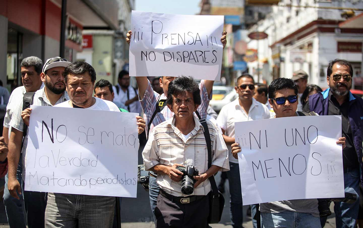 Journalists Protest in Veracruz