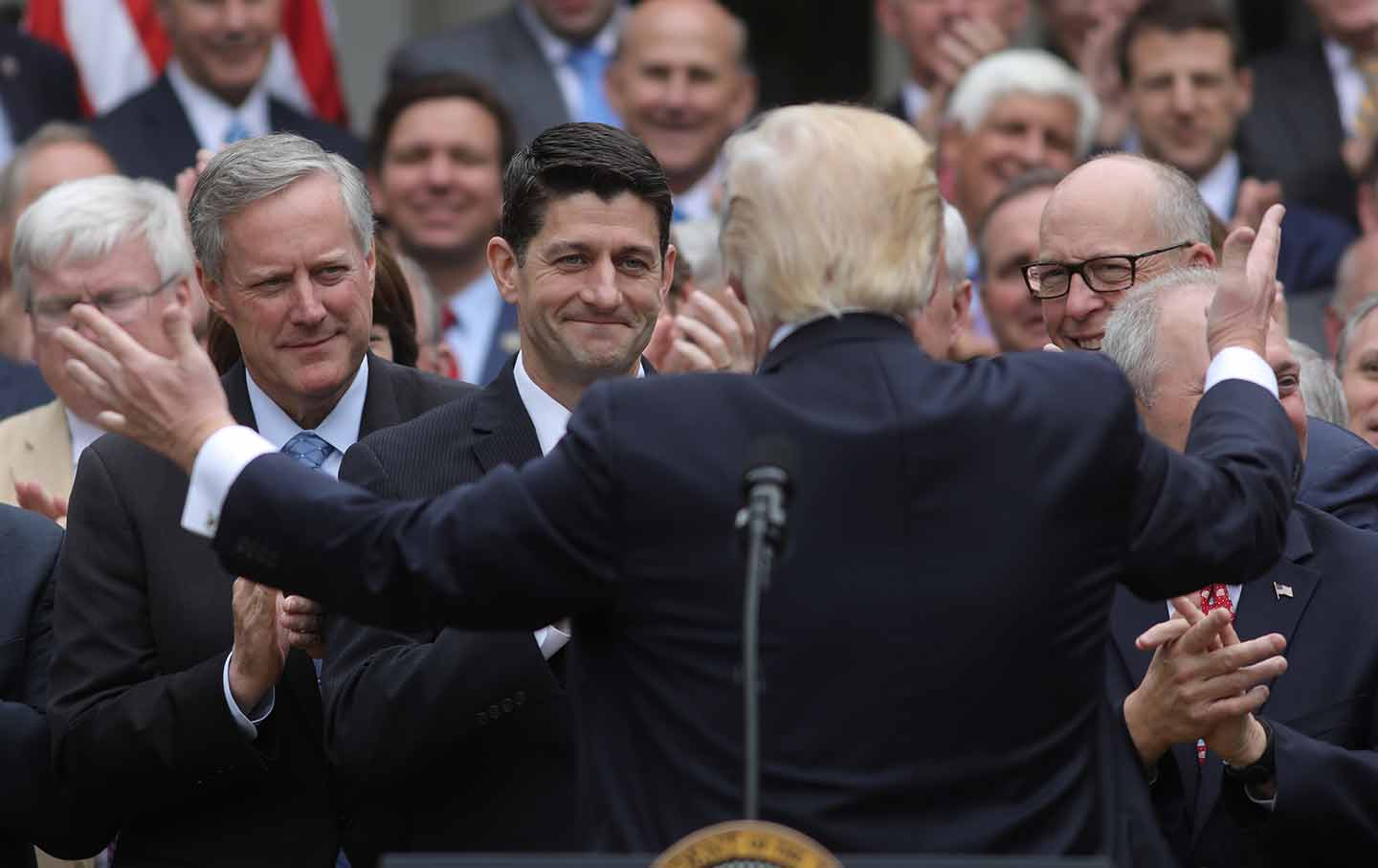 Trump and Republicans celebrate AHCA