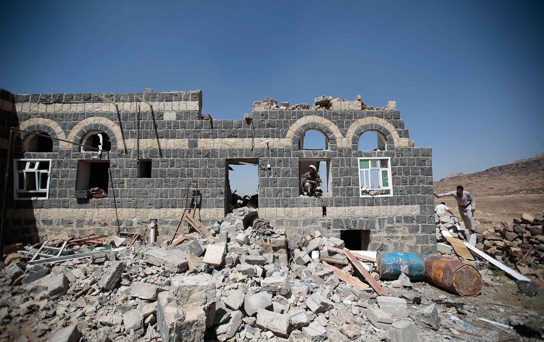 Saudi airstrike aftermath