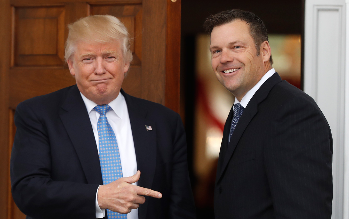 Donald Trump and Kris Kobach