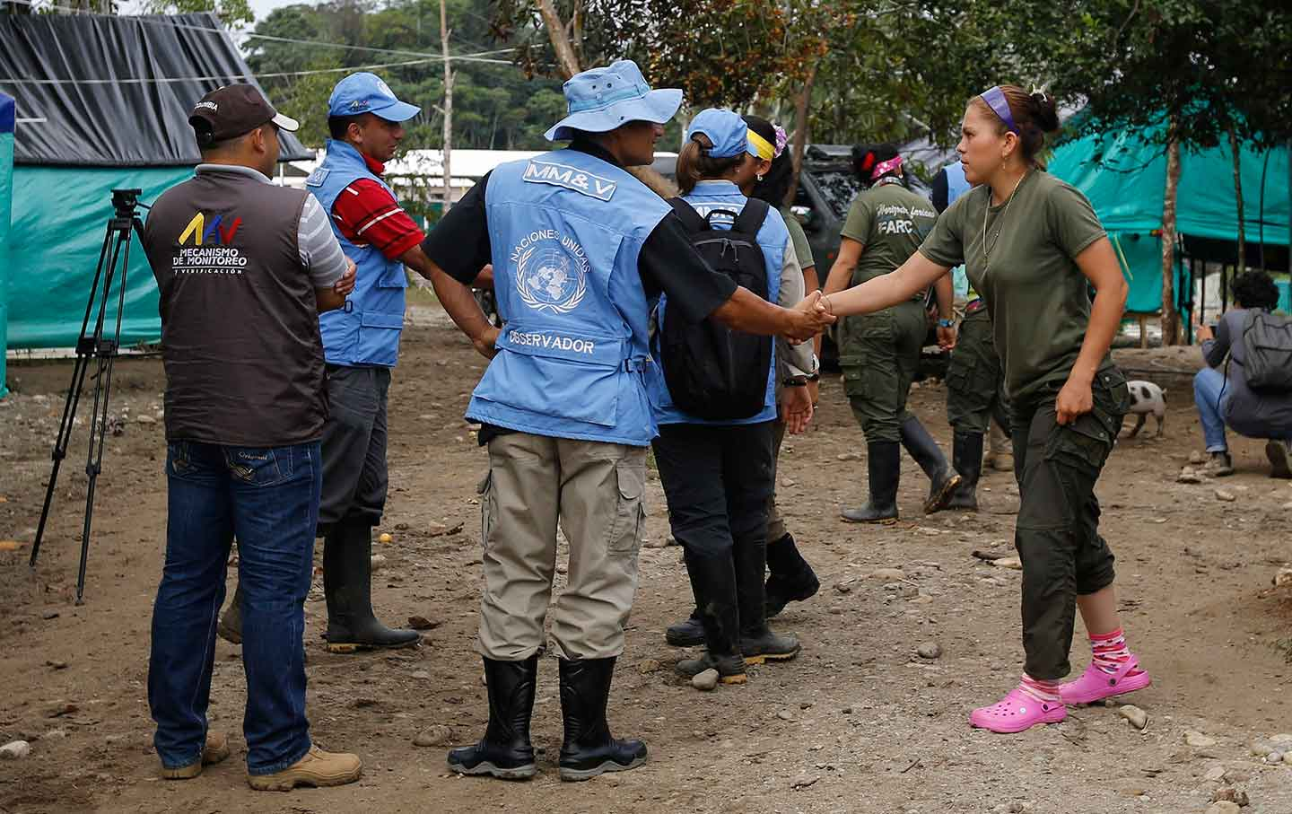 UN Observer and FARC Rebels