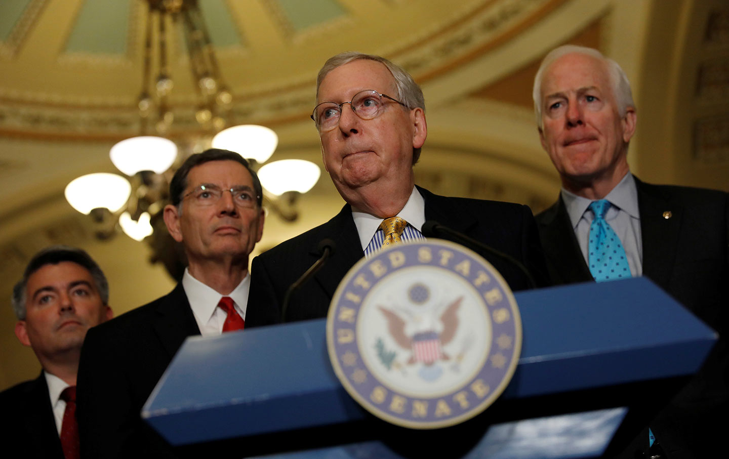 Mitch McConnell, Cory Gardner, and John Barrasso