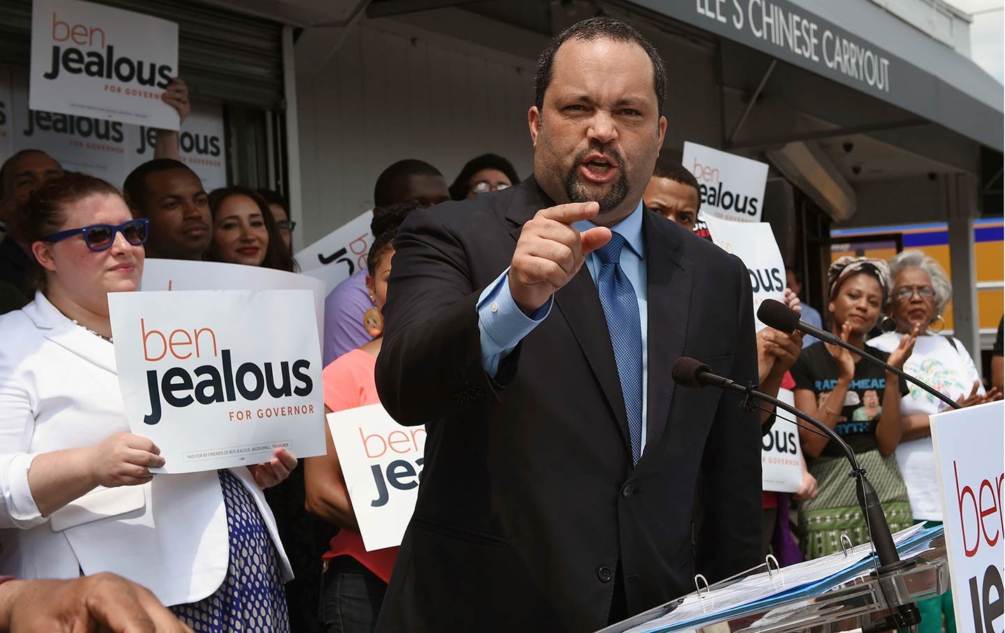 Ben Jealous in West Baltimore