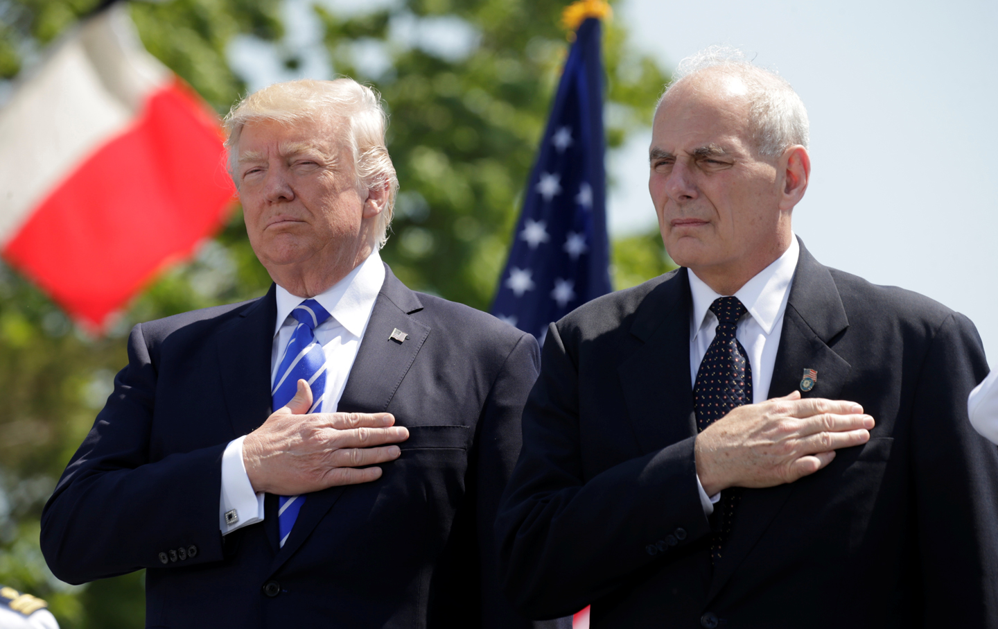 John Kelly and Donald Trump
