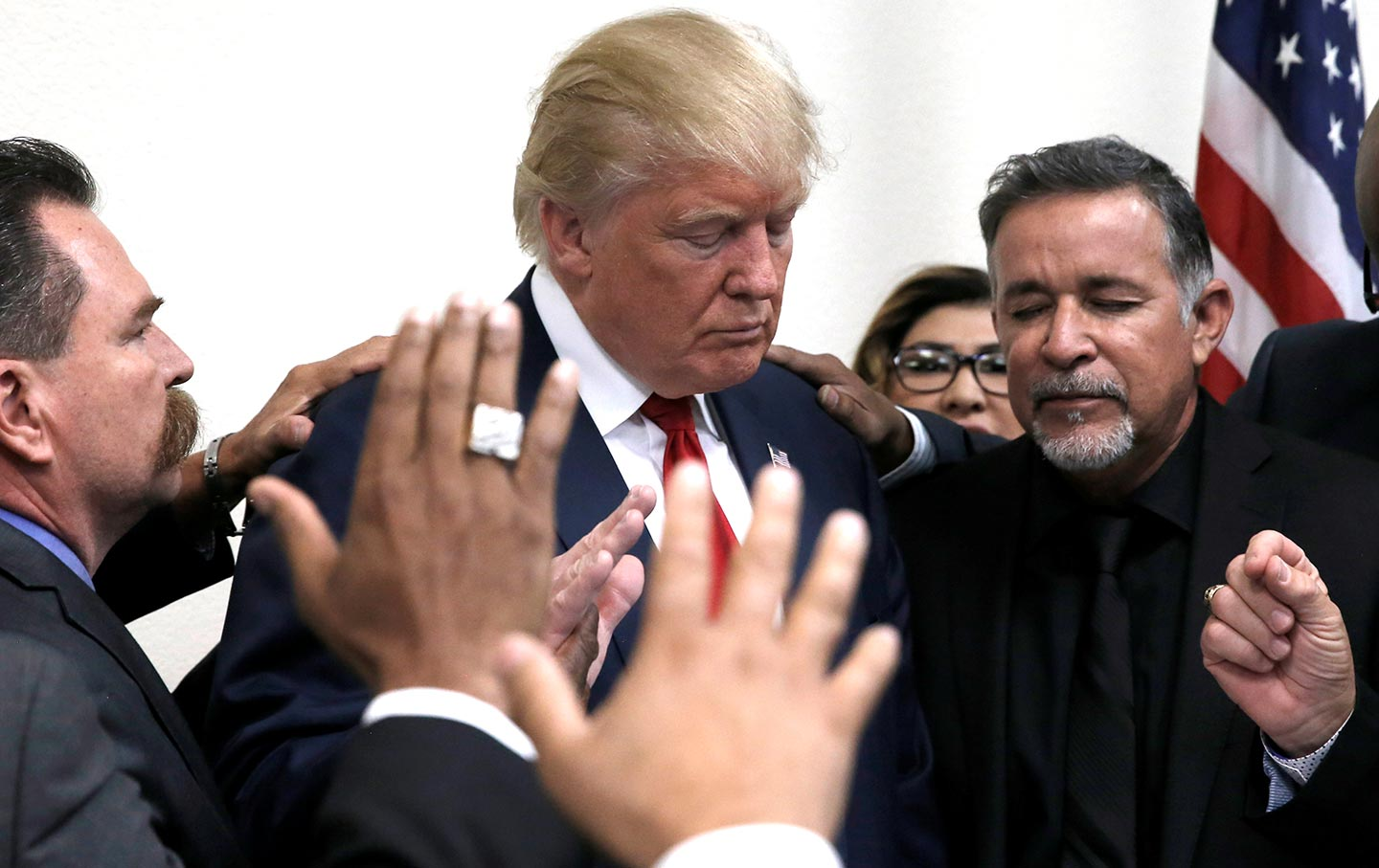 Donald Trump Prayer Circle